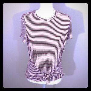 Ten sixty Sherman girls XL striped boat crew neck